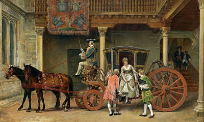 Painting - The Visit by Ignacio Leon y Escosura