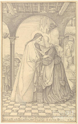 Visitation Painting - The Visitation by Celestial Images