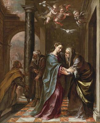 Valdes Painting - The Visitation by Juan de Valdes Leal