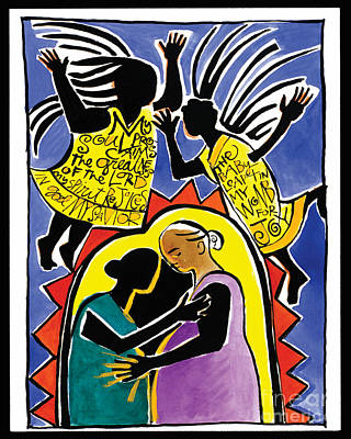 Painting - The Visitation - Mmvis by Br Mickey McGrath OSFS