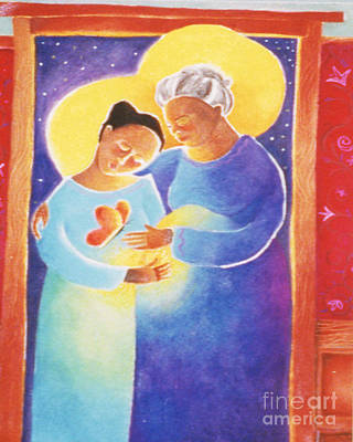 Painting - The Visitation - Mmvst by Br Mickey McGrath OSFS