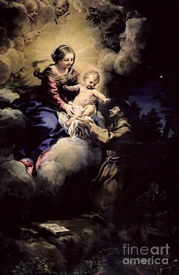Assisi Wall Art - Painting - The Visitation Of St Francis by Pietro da Cortona