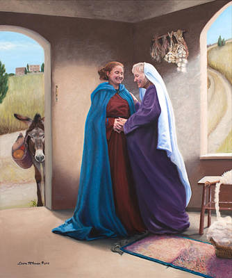 Theotokos Painting - The Visitation by Sister Laura McGowan
