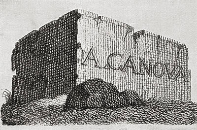 The Visiting Card Of Antonio Canova Art Print by Vintage Design Pics