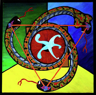 Painting - The Vitruvian Serpent by Rufus J Jhonson