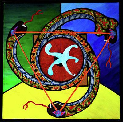 The Vitruvian Serpent Art Print