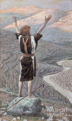 Testament Painting - The Voice In The Desert by Tissot
