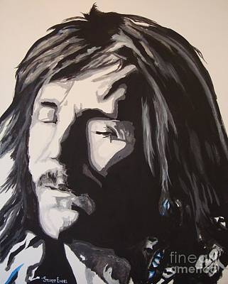 Led Zeppelin Painting - The Voice Is Strong The Words Are Clear by Stuart Engel