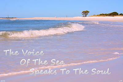 The Voice Of The Sea Speaks To The Soul Art Print by Lisa Wooten