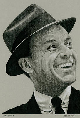 Frank Sinatra Drawing - The Voice by Rob De Vries