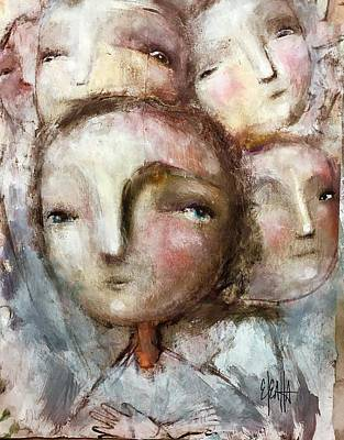 Mixed Media - The Voices by Eleatta Diver