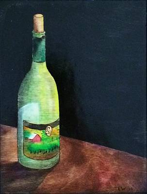 Table Wine Mixed Media - The Void by Ned Willis