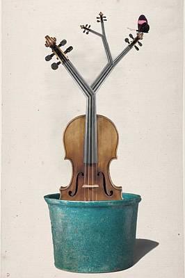 Digital Art - The Voilin Plant by Keshava Shukla