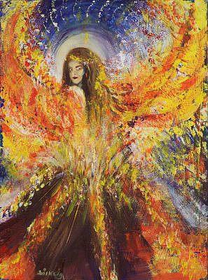 Volcano Goddess Painting - The Volcano Goddess by Solveig Katrin