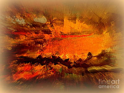 Painting - The Volcano by Nancy Kane Chapman