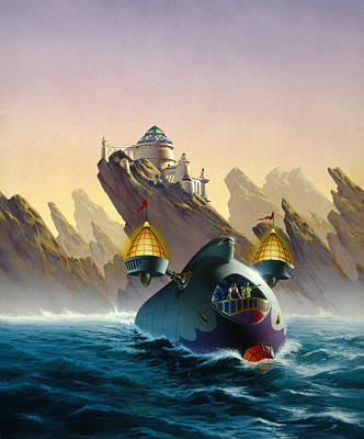 The Voyage Art Print by Richard Hescox