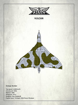 Raf Photograph - The Vulcan - White by Mark Rogan