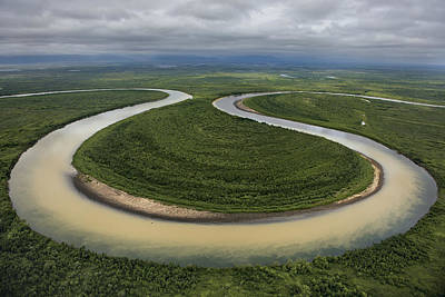 Floodplain Photograph - The Vyvenka River Loops by Randy Olson