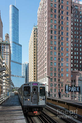 Photograph - The Wabash L Train At Eye Level by David Levin