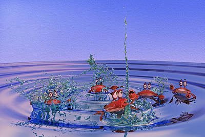 Comics Digital Art - The Wading Pool by Betsy Knapp
