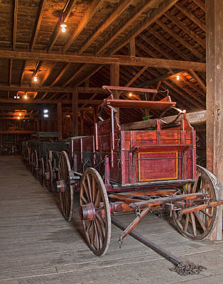 Farm Scene Photograph - The Wagon Barn by Ron  McGinnis