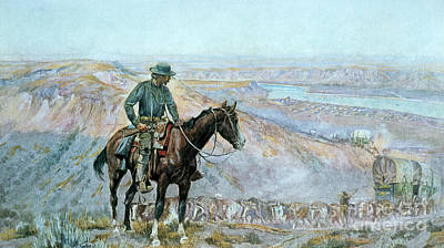 The Wagon Boss Art Print by Charles Marion Russell