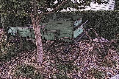 Photograph - The Wagon by Larry Bishop
