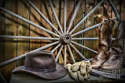 Wagon Wheels Photograph - The Wagon Master by Paul Ward