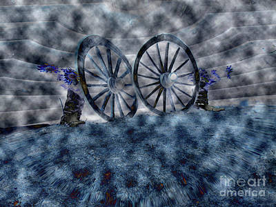 Digital Art - The Wagon Wheels by Donna Brown