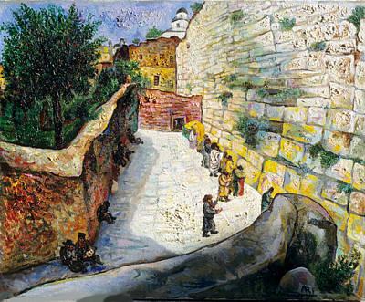 Roussimoff Wall Art - Painting - The Wailing Wall by Ari Roussimoff