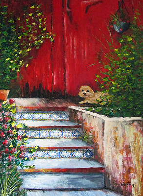 Painting - The Wait by Gloria E Barreto-Rodriguez