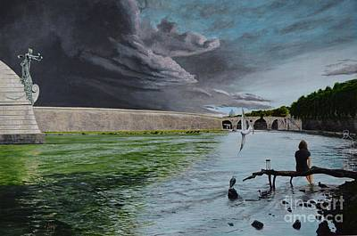 River Styx Painting - The Wait In The Styx. by Carlos Ferg