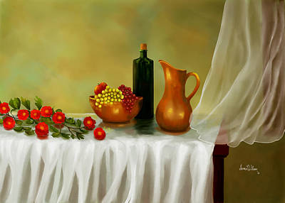Art Print featuring the painting The Waiting Table by Sena Wilson