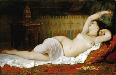 Charles Landelle Painting - The Waking Up by Charles Zacharie Landelle