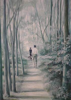 Painting - The Walk by Caroline Philp
