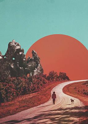 Yosemite Digital Art - The Walk by Fran Rodriguez