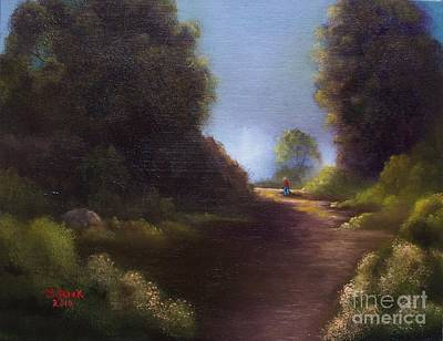 Art Print featuring the painting The Walk Home by Marlene Book
