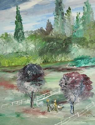 The Walk Through The Park Art Print by Edward Wolverton