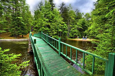 Bridge Photograph - The Walking Bridge At Penwood by David Patterson