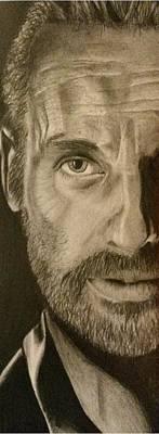 Grime Drawing - The Walking Dead Fan Art by Kirsty Willcox