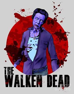 Danai Gurira Digital Art - The Walking Dead The Walken Dead Amc The Walking Dead Parody, Christopher Walken Parody by Paul Telling