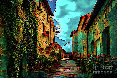 Photograph - The Walkway 16418 by Ray Shrewsberry