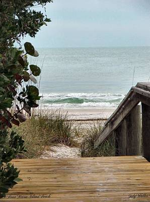 The Walkway To The Beach Art Print by Judy  Waller