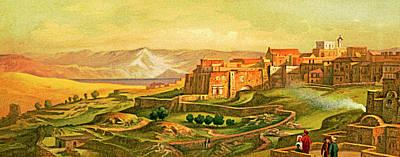 Photograph - The Wall Around Bethlehem In 1875 by Munir Alawi