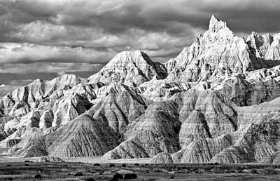 Mountain Landscape - The Wall Black and White by Nicholas Blackwell