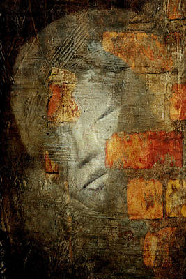 Human Head Mixed Media - The Wall by Heike Hultsch