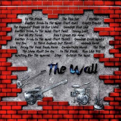 Digital Art - The Wall by Michael Damiani