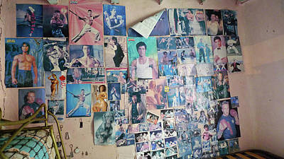Chuck Norris Photograph - The Wall Of Bruce Lee by Delia Quigley