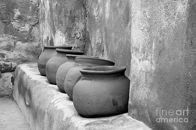 Photograph - The Wall Of Pots by Sandra Bronstein