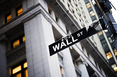 New England States Photograph - The Wall Street Street Sign by Justin Guariglia